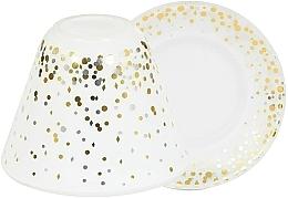 Parfumuri și produse cosmetice Abajur și suport pentru lumânare mare - Yankee Candle Holiday Party Shade + Tray Large