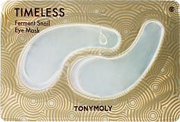 Parfumuri și produse cosmetice Patch-uri de hidrogel cu mucină de melc pentru ochi - Tony Moly Timeless Ferment Snail Eye Mask