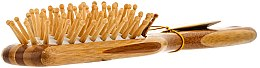Perie de bambus pentru păr - Olivia Garden Healthy Hair Small Rect Ionic Massage Brush — Imagine N2
