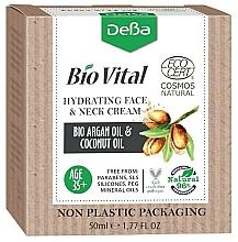 Parfumuri și produse cosmetice Cremă hidratantă pentru față și gât 35+ - DeBa Bio Vital Hydrating Face and Neck Cream