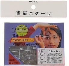 Parfumuri și produse cosmetice Șabloane pentru sprâncene, mărime B1, B2, B3, B4 - Magical Eyebrow Style