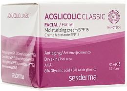 Parfumuri și produse cosmetice Cremă hidratantă - SesDerma Laboratories Acglicolic Classic Moisturizing Cream SPF 15
