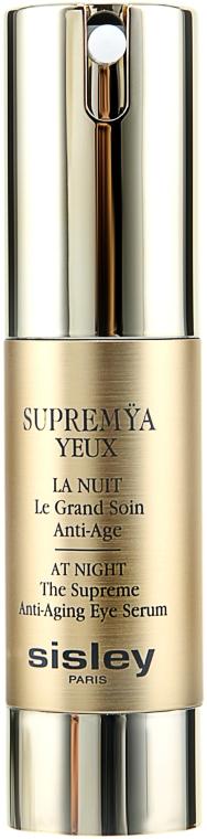 Cremă pentru zona ochilor - Sisley Supremya Yeux At Night The Supreme Anti-Aging Eye Serum  — Imagine N1