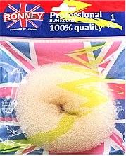 Parfumuri și produse cosmetice Burete pentru coc, bej - Ronney Professional Bun Maker