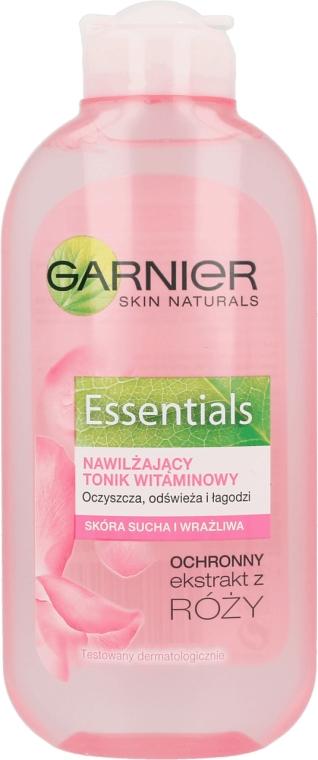Loțiune tonică pentru ten uscat și sensibil, cu efect calmant - Garnier Skin Naturals Îngrijire de bază — Imagine N1