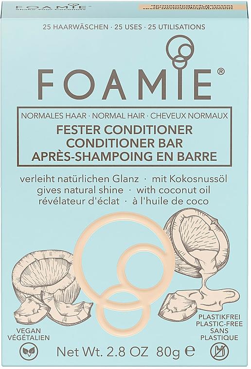 Balsam solid pentru păr - Foamie Conditioner Bar with Coconut Oil — Imagine N2
