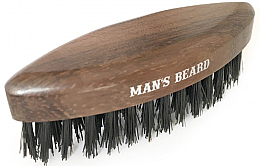 Parfumuri și produse cosmetice Perie din lemn pentru barbă - Man'S Beard Travel Beard Brush Without Wooden Handle