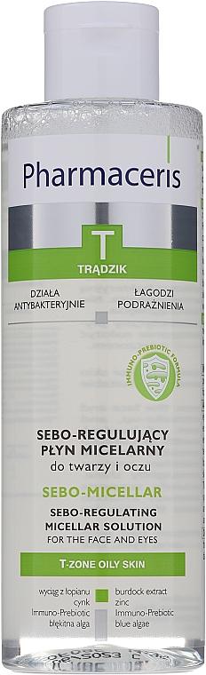 Loțiune micelară de curățare - Pharmaceris T Sebo-Micellar Solution Cleansing Make-Up Removal — Imagine N1