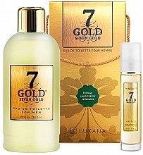 Parfumuri și produse cosmetice Luxana Seven Gold - Set (edt/1000ml + edt/50ml)