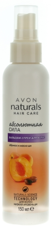 """Balsam-spray pentru păr """"Forță absolută. Caise și unt de shea"""" - Avon — Imagine N1"""