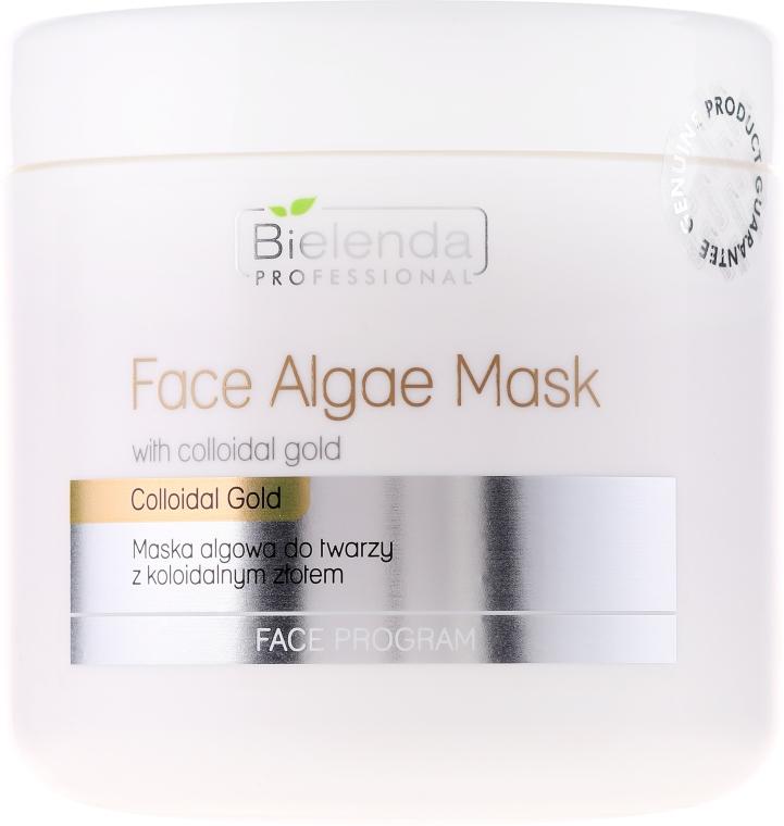 Mască hidratantă cu alge și aur coloidal pentru față - Bielenda Professional Face Algae Mask