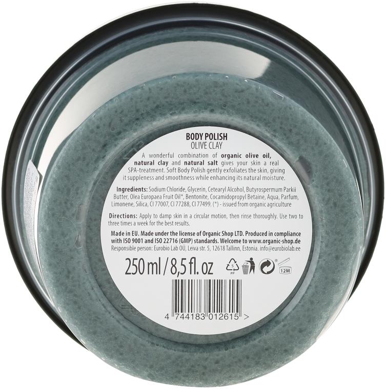 Scrub de corp cu argilă - Organic Shop Body Scrub Organic Olive & Clay — Imagine N2