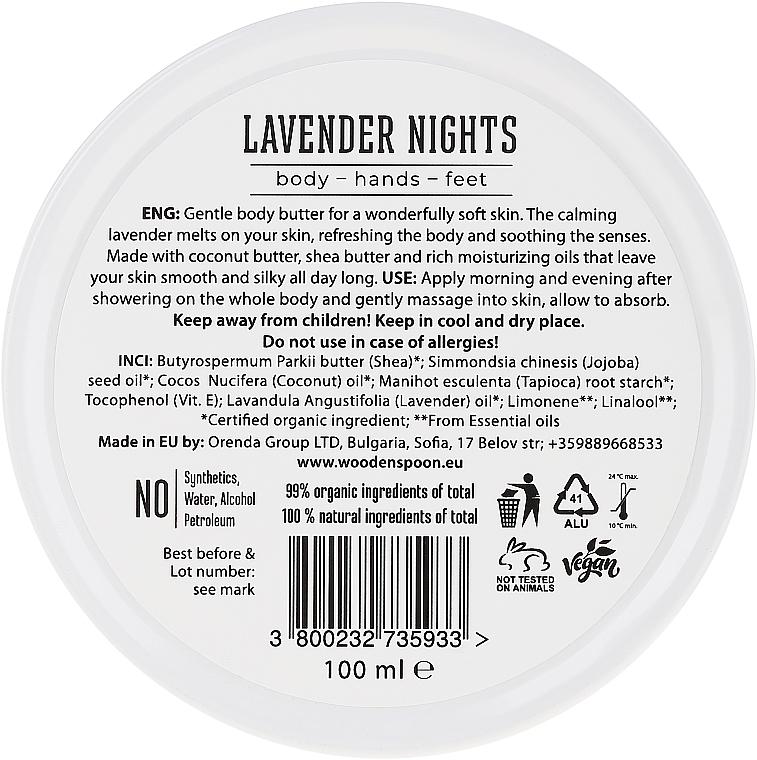 Cremă Unt de corp - Wooden Spoon Lavander Nights Body Butter — Imagine N2