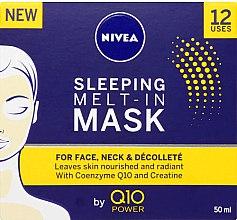 Mască de noapte pentru față - Nivea Q10 Power Sleeping Melt-In Mask — Imagine N2