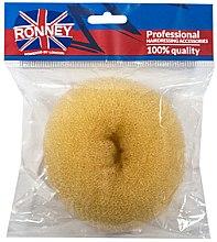 Parfumuri și produse cosmetice Burete pentru coc, 11 x 4,5 cm, bej - Ronney Professional Hair Bun