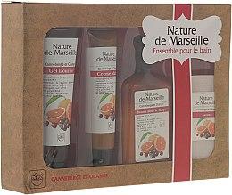 """Parfumuri și produse cosmetice Set """"Portocale și Merișoare"""" - Nature de Marseille (lot/150ml + sh/gel/100ml + h/cr/60ml + soap/90g)"""