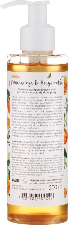 Șampon pentru păr normal și gras - Anwen Orange and Bergamot Shampoo — Imagine N2