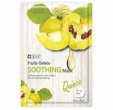 Parfumuri și produse cosmetice Mască calmantă cu gutui pentru față - SNP Fruits Gelato Soothing Mask