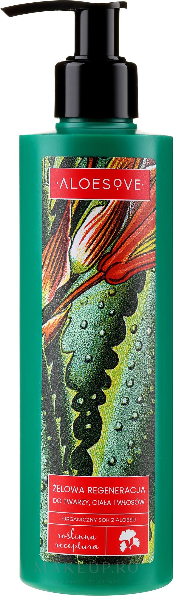 Gel cu suc organic de aloe pentru față, corp și păr - Aloesove — Imagine 250 ml
