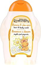 """Parfumuri și produse cosmetice Șampon-gel de duș pentru copii """"Banană și Aloe Vera"""" - Bluxcosmetics Naturaphy Hair & Body Wash"""