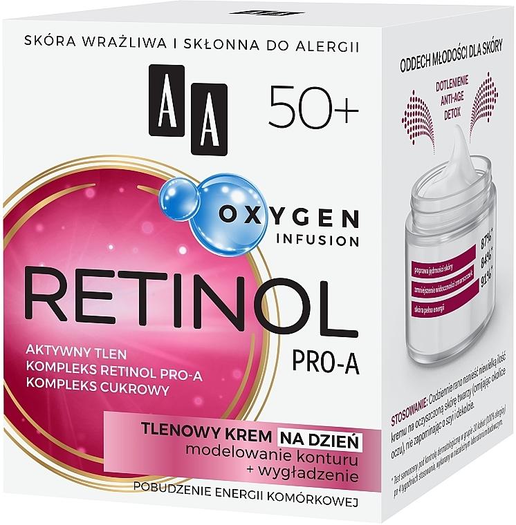 Cremă oxidantă pentru față 50+ - AA Oxygen Infusion Retinol Pro-A Day Cream — Imagine N2