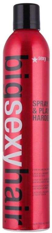 Spray pentru volumul părului - SexyHair BigSexyHair Spray & Play Harder Firm Volumizing Hairspray — Imagine N2