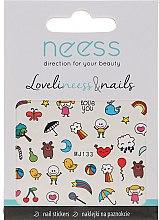Parfumuri și produse cosmetice Abțibilduri pentru unghii, 3690, MJ133 - Neess