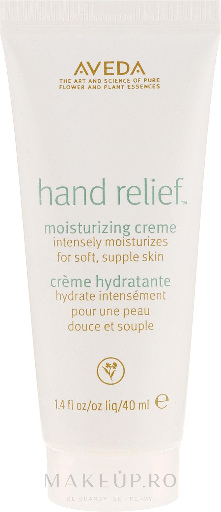 Cremă de mâini - Aveda Hand Relief Moisturizing Creme (mini) — Imagine 40 ml