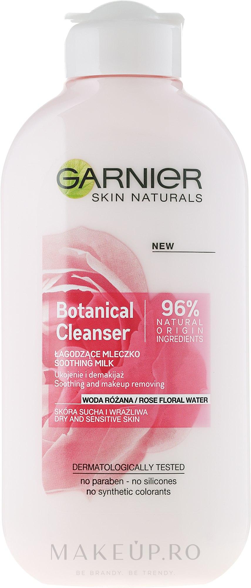 Lapte demachiant cu apă de trandafiri - Garnier Skin Naturals Botanical Rose Water Milk — Imagine 200 ml