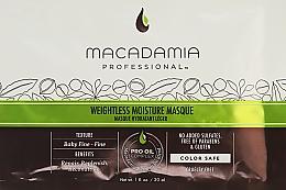 Parfumuri și produse cosmetice Mască hidratantă pentru păr fin - Macadamia Professional Weightless Moisture Masque (mostră)