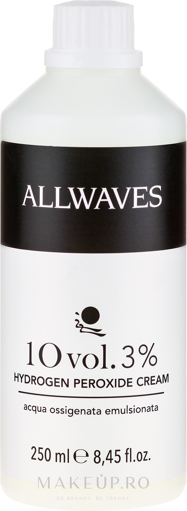 Cremă oxidantă - Allwaves Cream Hydrogen Peroxide 3% — Imagine 250 ml