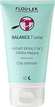 Parfumuri și produse cosmetice Argilă pentru curățarea feței - Floslek Balance T-zone Instant Detox 2in1 Clay Cleanser