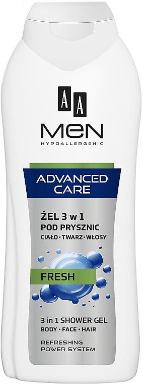 Gel de duș 3 în 1 - AA Men Advanced Care 3 in 1 Shower Gel Fresh