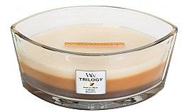 Parfumuri și produse cosmetice Lumânare aromată în suport de sticlă - WoodWick Trilogy Ellipse Cafe Sweets