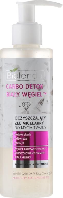 """Gel de curățare matifiant pentru spălarea și eliminarea machiajului """"Cărbune alb"""" - Bielenda Carbo Detox Micellar Gel — Imagine N1"""