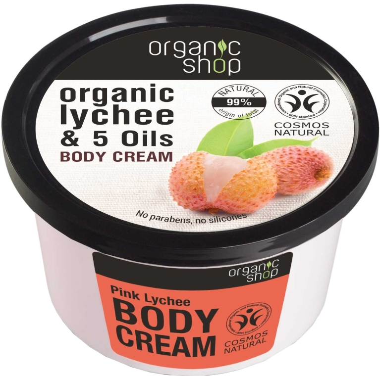 "Cremă pentru corp ""Litchi roz"" - Organic Shop Body Cream Organic Lichee & Oils — Imagine N1"