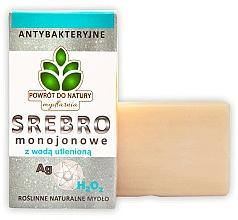 "Parfumuri și produse cosmetice Săpun natural ""Argint și peroxid de hidrogen"" - Powrot do Natury Natural Soap Matt Silver and Hydrogen Peroxide"