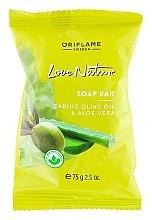 """Parfumuri și produse cosmetice Săpun """"Măsline și aloe"""" - Oriflame Love Nature Olive Oil & Aloe Vera Soap Bar"""