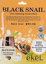 Parfumuri și produse cosmetice Mască din țesătură cu mucină de melc negru pentru față - Ekel Black Snail Ultra Hydrating Essence Mask