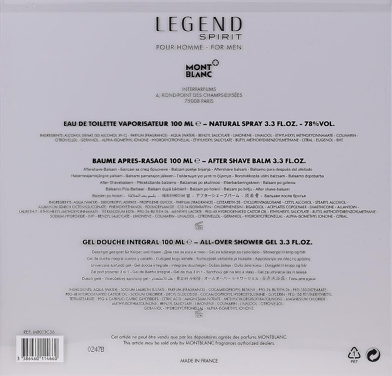 Montblanc Legend Spirit - Set (edt/100ml + ash/balm/100ml + sh/gel/100ml) — Imagine N5