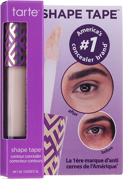 Concealer - Tarte Cosmetics Shape Tape Contour Concealer Travel-Size — Imagine N1