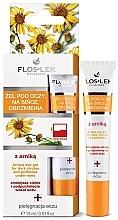 Parfumuri și produse cosmetice Gel pentru pielea din jurul ochilor - Floslek Arnica Gel For Dark Circles And Puffiness Under Eyes