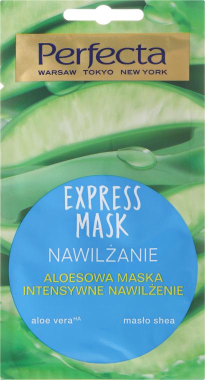 Mască hidratantă pentru față, cu aloe vera - Perfecta Express Mask