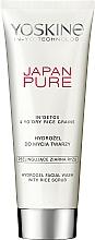 Parfumuri și produse cosmetice Gel de curățare pentru față - Yoskine Japan Pure Hydrogel Facial Wash With Rice Scrub