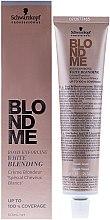 Cremă iluminatoare pentru păr cărunt - Schwarzkopf Professional BlondMe White Blending — Imagine N1