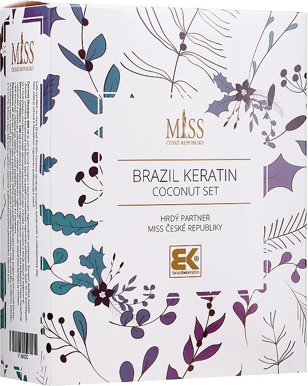 Set - Brazil Keratin Coconut Set (sch/300ml + cond/300ml + oil/100ml)