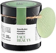 Parfumuri și produse cosmetice Cremă de zi cu textură ușoară pentru piele problematică - Make Me BIO Beautiful Face