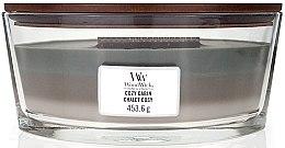 Parfumuri și produse cosmetice Lumânare aromatică în pahar - WoodWick Cozy Cabin Trilogy Ellipse Candle
