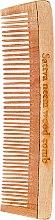 Parfumuri și produse cosmetice Pieptene din lemn pentru păr, 19 cm - Sattva Neem Wood Comb