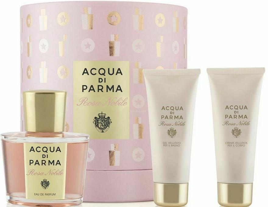 Acqua di Parma Rosa Nobile Set - Set (edp/100ml + sh/g/75ml + b/cr/75ml) — Imagine N1